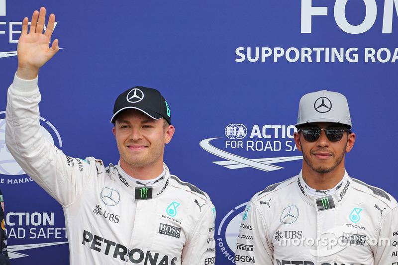 Polesitter: Nico Rosberg, Mercedes AMG F1; 2. Lewis Hamilton, Mercedes AMG F1