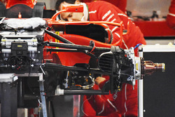 Front suspension on the Ferrari SF70H of Kimi Raikkonen