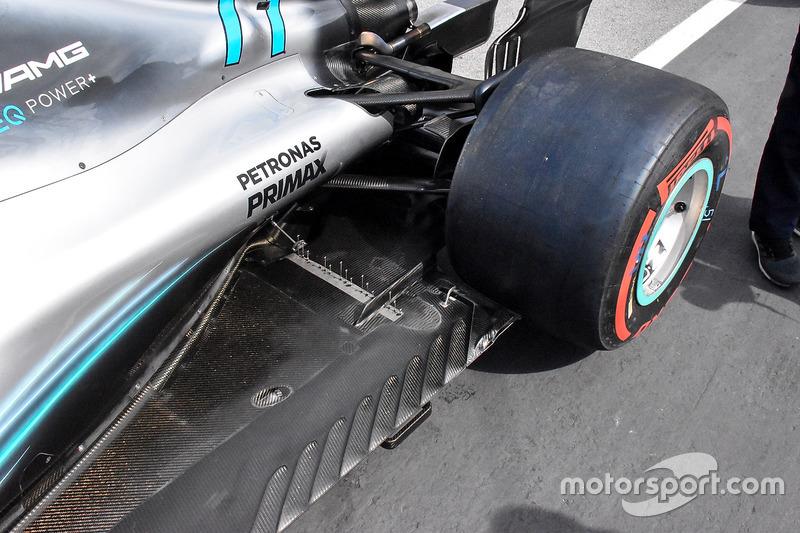 Mercedes AMG F1 W09 sensoren
