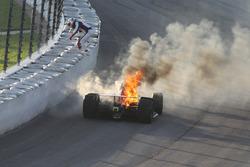 Feuer: Matheus Leist, A.J. Foyt Enterprises Chevrolet