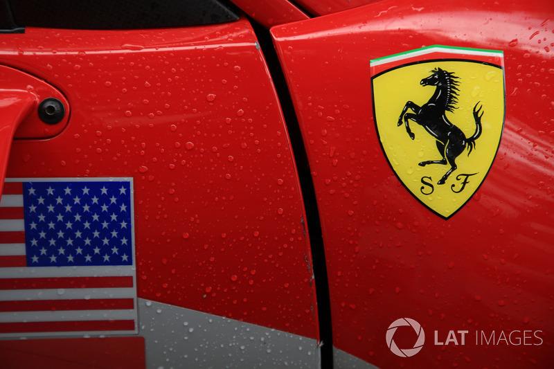 Ferrari logo detail