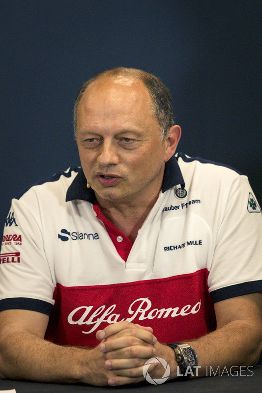 Frederic Vasseur, Sauber, Team Principal in the Press Conference
