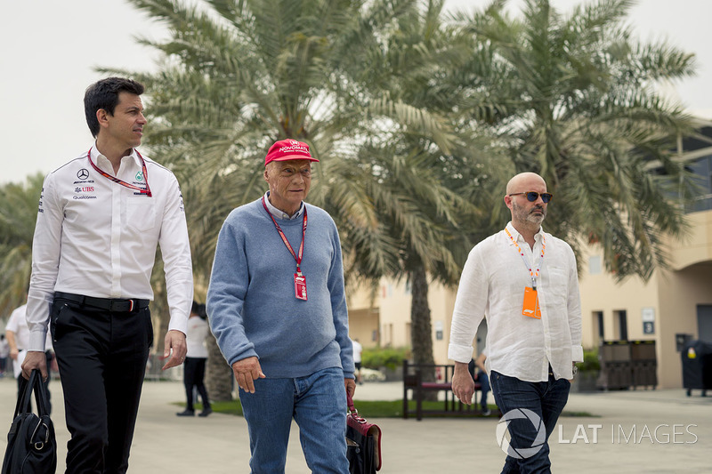 Toto Wolff, Mercedes AMG F1 Director of Motorsport and Niki Lauda, Mercedes AMG F1 Non-Executive Cha
