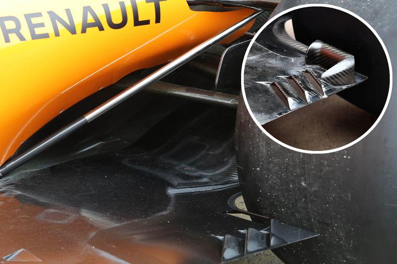 Сравнение днища McLaren MCL33