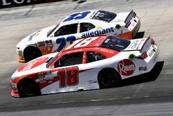Ryan Preece, Joe Gibbs Racing, Toyota Camry Rheem and Spencer Gallagher, GMS Racing, Chevrolet Camaro Allegiant