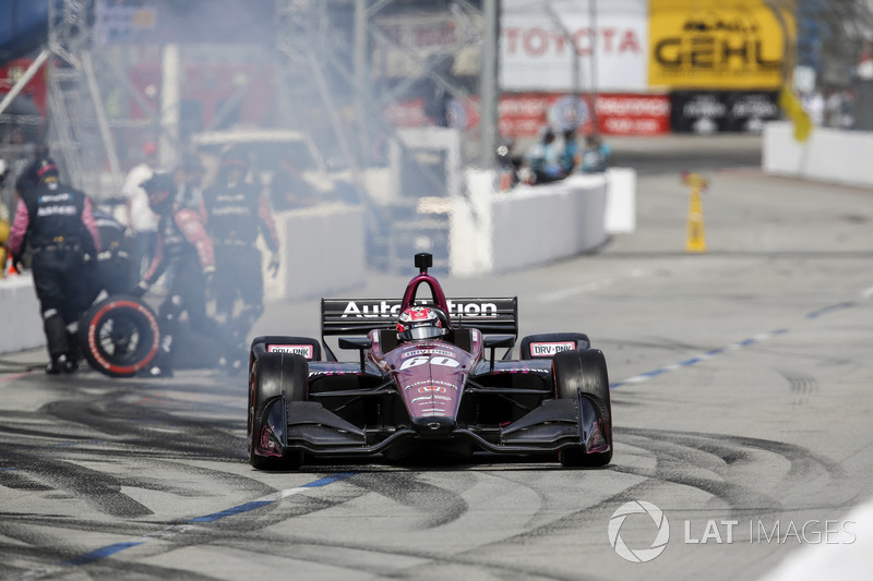 Jack Harvey, Meyer Shank Racing with Schmidt Peterson Honda, au stand