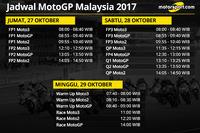 Jadwal MotoGP Malaysia 2017