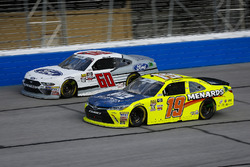 Brandon Jones, Joe Gibbs Racing, Menards Jeld-Wen Toyota Camry and Chase Briscoe, Roush Fenway Racing, Ford Ford Mustang