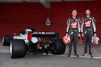 Kevin Magnussen, Haas F1 Team and Romain Grosjean, Haas F1 Team , the new Haas F1 Team VF-18