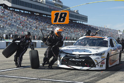 Ryan Preece, Joe Gibbs Racing, Toyota Camry Falmouth Ready Mix makes a pit stop