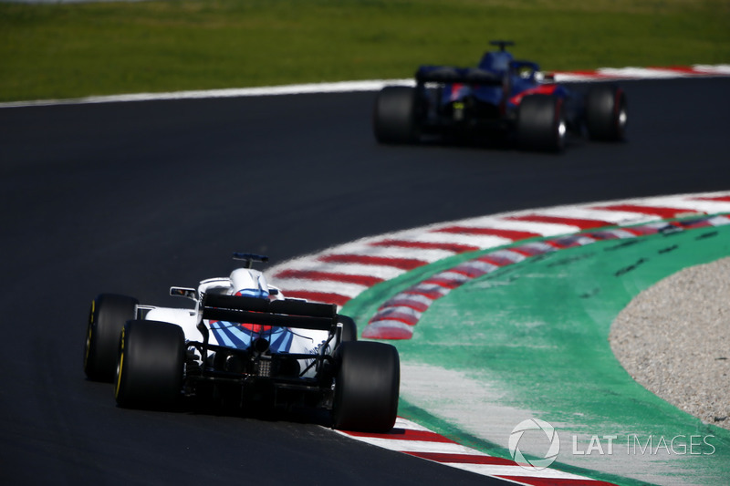 Brendon Hartley, Scuderia Toro Rosso STR13, Sergey Sirotkin, Williams FW41