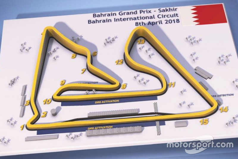 Bahrain Grand Prix circuit map