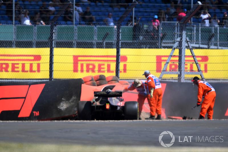 Brendon Hartley, Scuderia Toro Rosso STR13 après l'accident