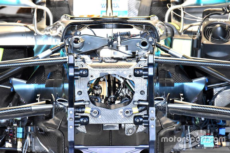 L'intérieur de la Mercedes AMG F1 W09