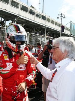 Sebastian Vettel, Ferrari con Bernie Ecclestone