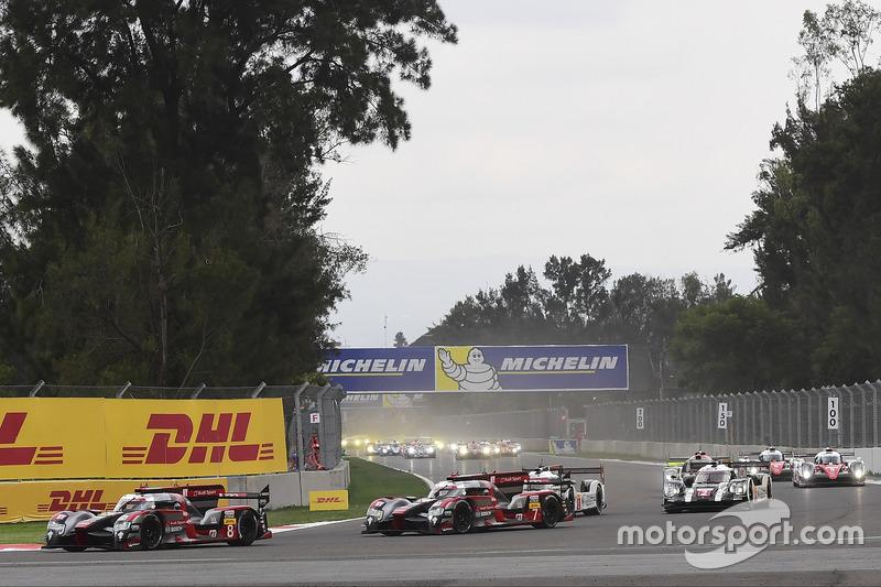 Partenza: #8 Audi Sport Team Joest Audi R18 e-tron quattro: Lucas di Grassi, Loic Duval, Oliver Jarv