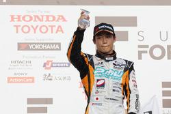 Podium: second place Yuji Kunimoto, Cerumo Inging