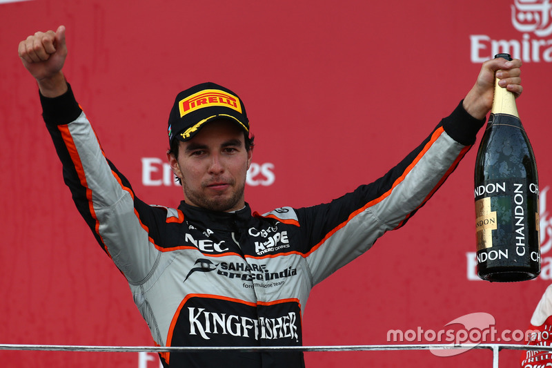 Podio: Tercer lugar Sergio Pérez, Force India F1 VJM09