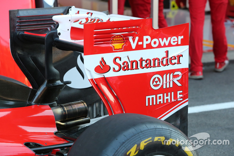 Ferrari SF16-H, rear wing on Saturday