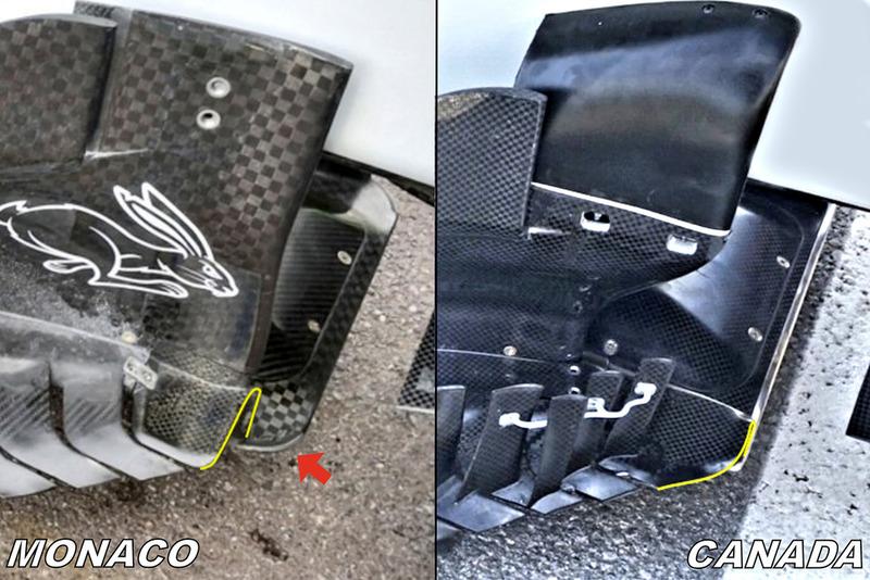 Haas F1 Team VF-18 , padlólemez & bargeboard