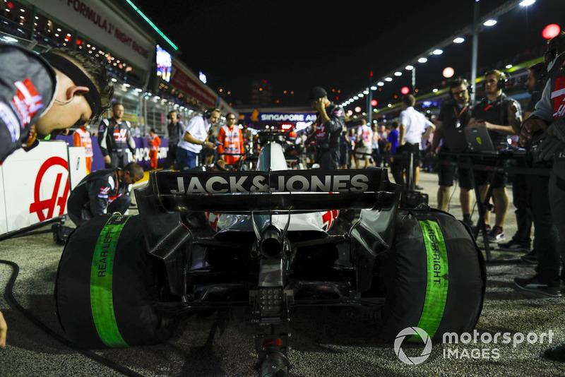 The car of Romain Grosjean, Haas F1 Team VF-18