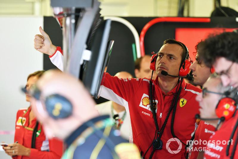 Riccardo Adami, ingegnere di pista, Ferrari