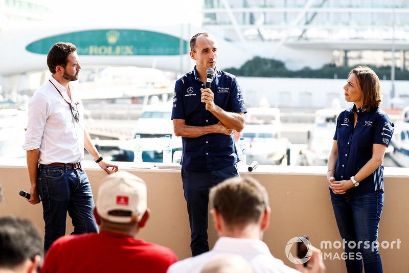 Claire Williams, Vice Team Principal, Williams Racing, annuncia Robert Kubica, Williams Racing, per il 2019