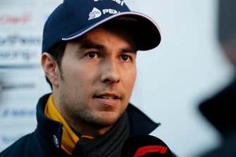 Sergio Perez, Racing Point F1 Team, parle à la presse