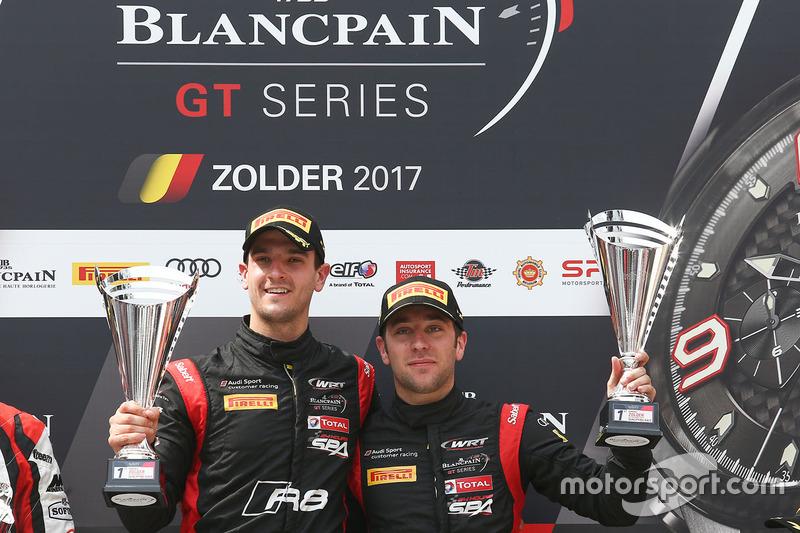 Podio: ganadores #17 Team WRT Audi R8 LMS: Stuart Leonard, Robin Frijns