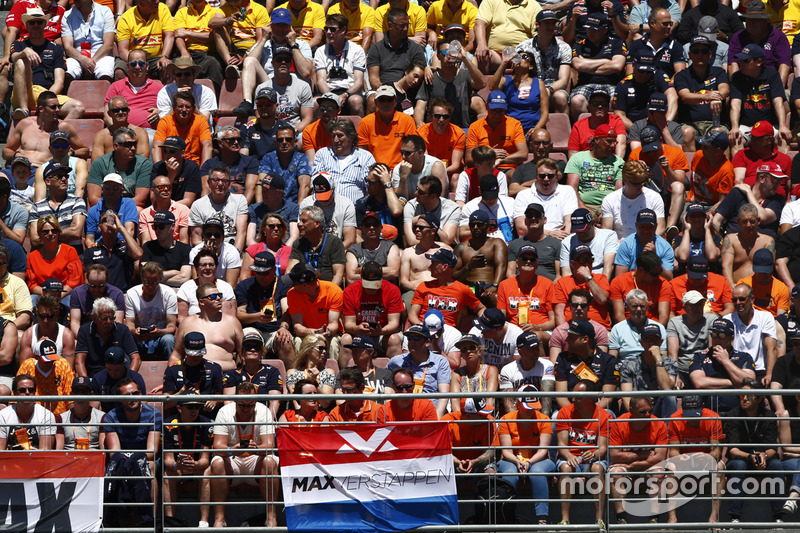 Fans of Max Verstappen, Red Bull Racing, in the grandstand