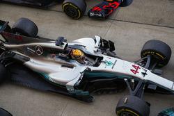 Le vainqueur Lewis Hamilton, Mercedes AMG F1 W08
