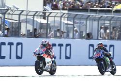 1. Andrea Dovizioso, Ducati Team; 2. Maverick Vinales, Yamaha Factory Racing