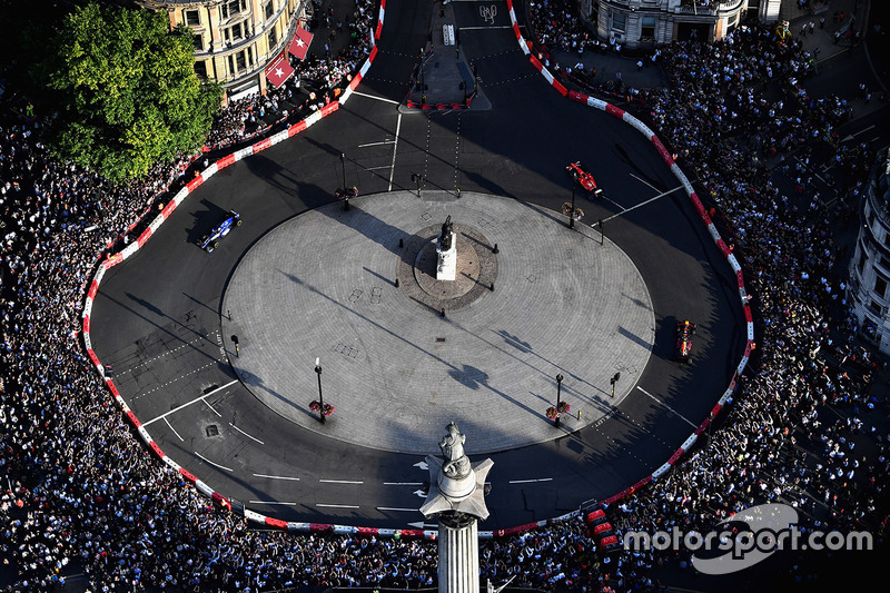 Luchtfoto van F1 Live London