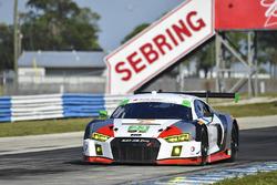 #23 Alex Job Racing Audi R8 LMS GT3: Bill Sweedler, Townsend Bell, Frankie Montecalvo