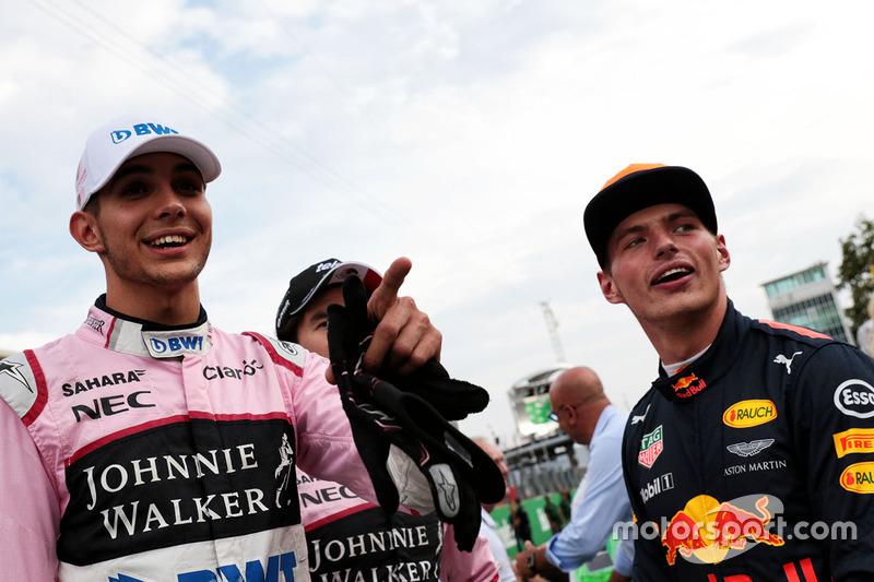 Max Verstappen, Red Bull Racing, Esteban Ocon, Sahara Force India