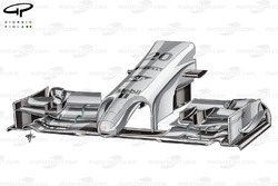McLaren MP4-29 front wing (new specification, with revised endplate and slotted canard))