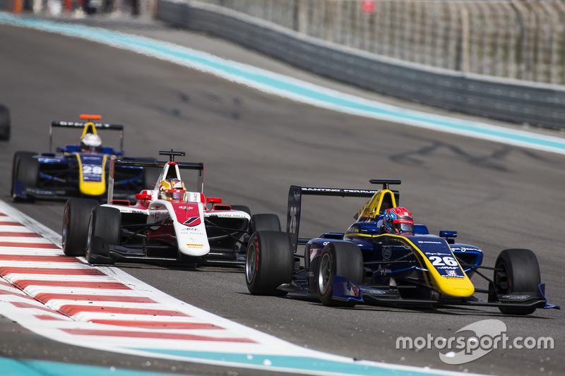 Santino Ferrucci, DAMS y Charles Leclerc, ART Grand Prix
