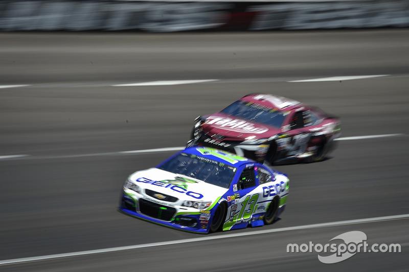 Ty Dillon, Germain Racing, Chevrolet; Gray Gaulding, BK Racing, Toyota