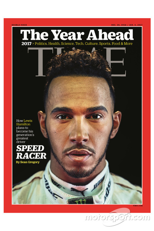 Time Magazin cover with Lewis Hamilton