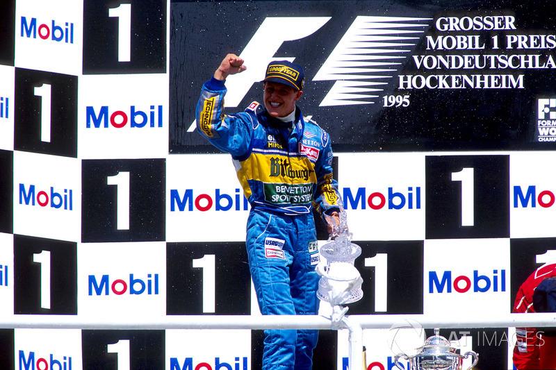 Podyum: Michael Schumacher, Benetton B195 Renault