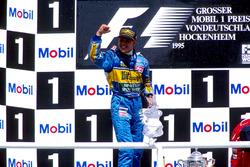 Podio: Michael Schumacher, Benetton B195 Renault