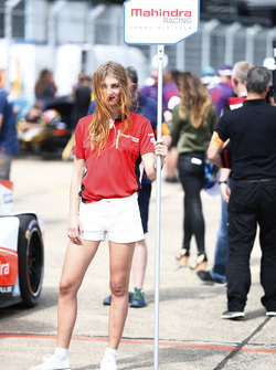 Mahindra Racing grid girl