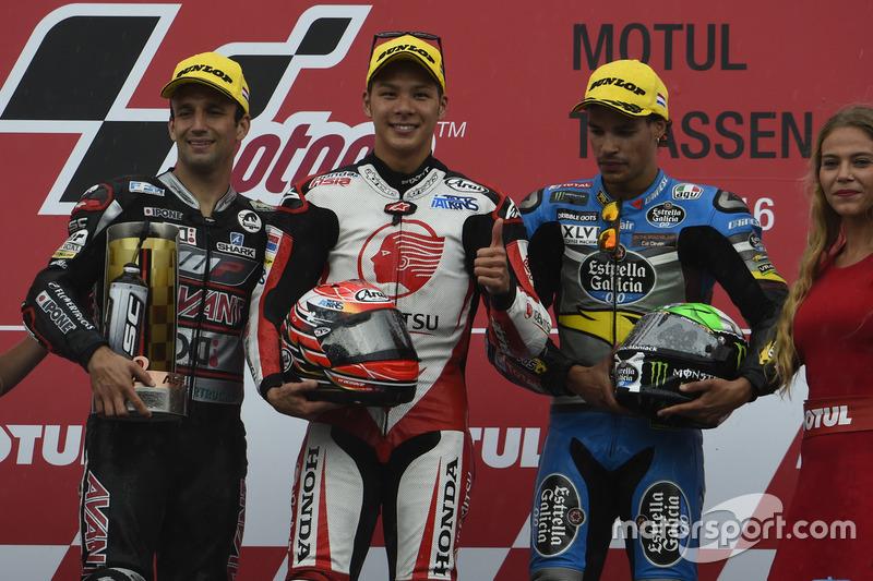 Podyum: 1. Takaaki Nakagami, Honda Team Asia, 2. Johann Zarco, Ajo Motorsport, 3. Franco Morbidelli,