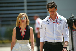 Toto Wolff, Mercedes GP Executive Director with his wife Susie Wolff