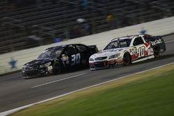 Danica Patrick, Stewart-Haas Racing Chevrolet, Josh Wise, The Motorsports Group Chevrolet
