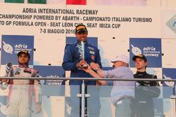 Podium: winner Luis Michael Dörrbecker, Torino Squadra Corse, second place Mahaveer Raghunathan, PS Racing, third place Dominik Fekete, Zele Racing