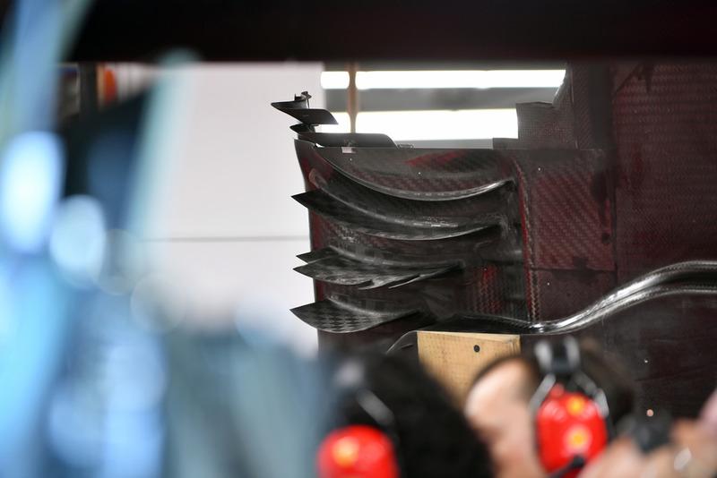 Detalle del piso del Ferrari SF71H