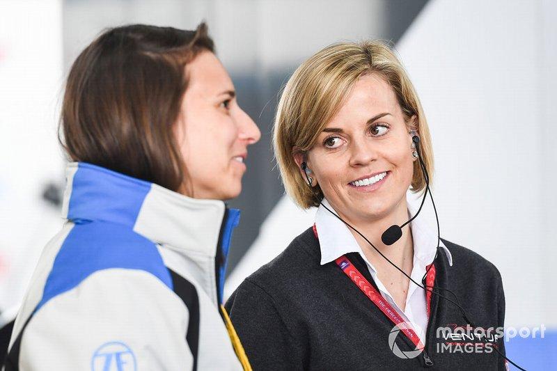 Сьюзі Вольфф, керівник команди, Venturi Formula E, Сімона де Сільвестро, ABB Ambassador