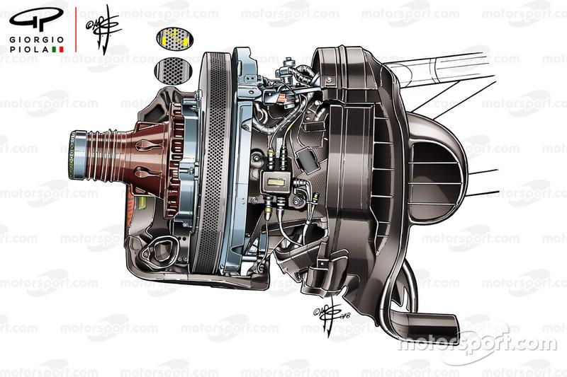 Freno de disco del Ferrari SF71H