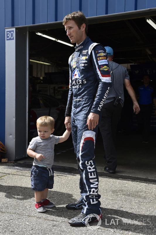 Kasey Kahne, Hendrick Motorsports Chevrolet, mit Sohn Tanner